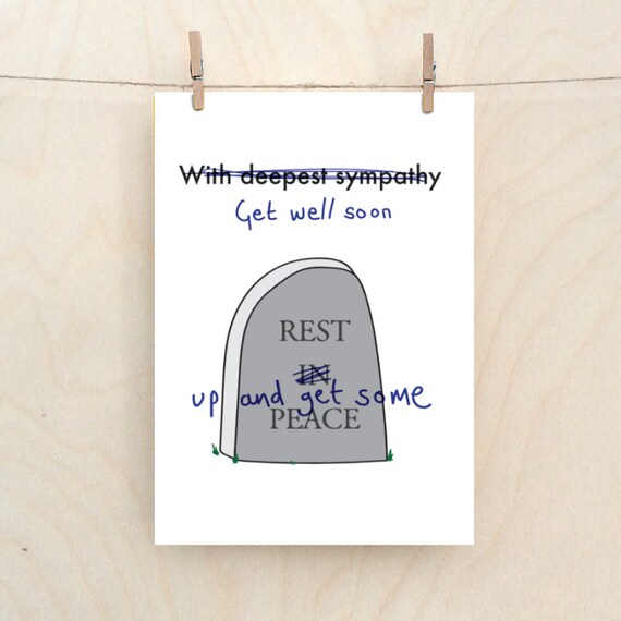 Get well soon card,Funny get well card