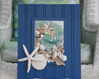 Nautical Decor, Sand Dollar Art, Beach Wall Art, Nautical Wall Art for Beach Decor, Beach Decor for Bathroom, Seashell Art on Glass,Wall Art