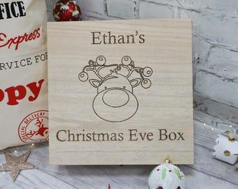Christmas Eve Box, personalised Christmas Box, wooden Christmas Eve box, personalised christmas Eve Box, Xmas Box, family Christmas Eve Box