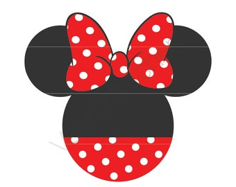 Minnie Inspired Silhouette Cutting Template, Polka Dots SVG  & More, Silhouette, Cricut, Vector, Instant Download, Happiest Place on Earth