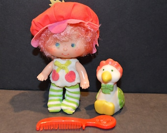 Vintage Kenner Cherry Duddler with Gooseberry Doll-From Strawberry Shortcake Collection
