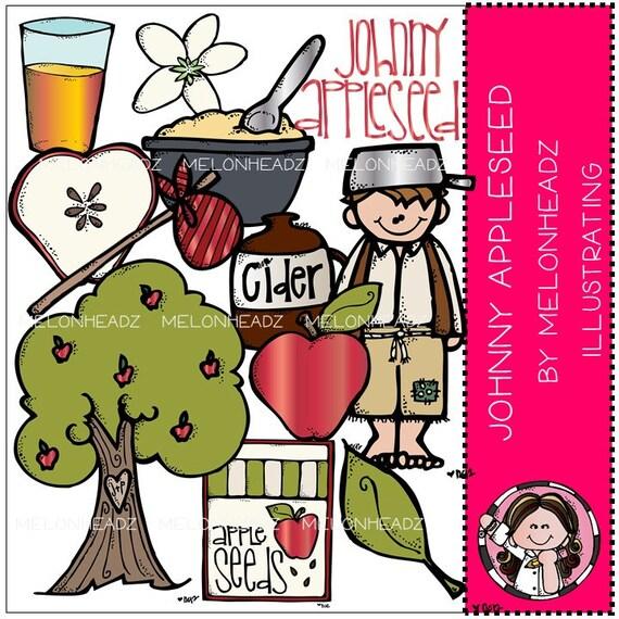 johnny appleseed clip art rh etsy com johnny appleseed clipart free Johnny Appleseed Interactive Story