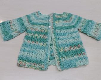 Mint Mix Baby Cardigan (0-3 Months)