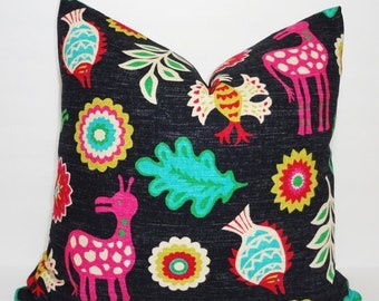 SIZZLING SUMMER SALE Waverly Mexicali Desert Flower Pillow Cover Decorative Pillow Southwestern Throw Pillow 18x18