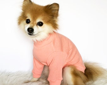 Dog Turtleneck, Gray Pink Navy Beige tshirt, dog hoodie, pet clothes, small dogs clothes, clothes, puppy hoodie, dog hoodies, puppy sweaters