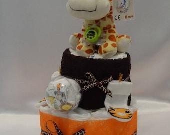 Cute giraffe - diaper cake - and her clothes - newborn
