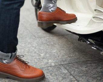 Swallow Grey colorful socks for men. Fun patterned men socks.