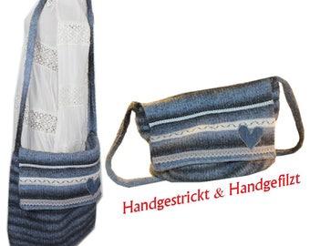 Handmade handmade felt Bag XL Big bag Shabby chic vintage