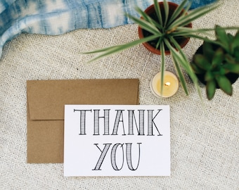 "Thank You 4""x6"" Greeting Card - Print"