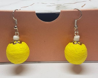 Earrings yellow party favors