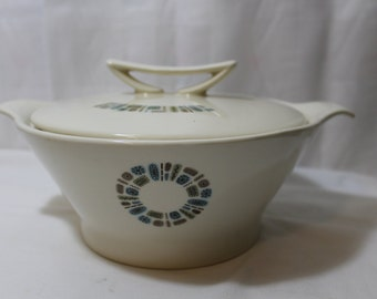"""Rare Canonsburg Pottery """"Temporama"""" Covered Serving Bowl"""