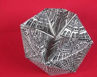 Metropolis 3D linoprint
