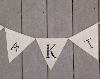 Wedding Banner with Monogram and Two Hearts-Burlap Wedding Banner-Shabby Chic Wedding Banner-Rustic Wedding Banner-Custom Colors-Free Ship