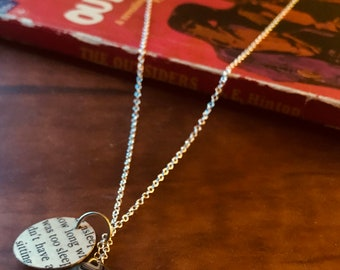The Outsiders by S. E. Hinton Decoupaged Jewelry