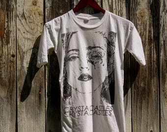 Vintage custom cut Crystal castles T-shirt dress xs