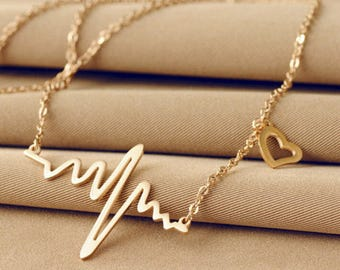 Life Line Heart Necklace