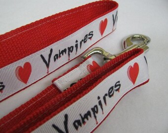 I Love Vampires Dog Leash