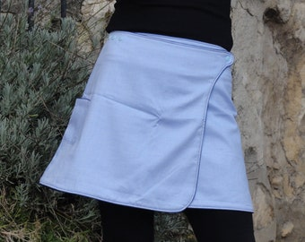 """Reversible a-line skirt is """"White gingham"""" read """""""