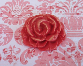 24 Edible Red Fondant Roses for Cake and Cupcake Toppers Decorations