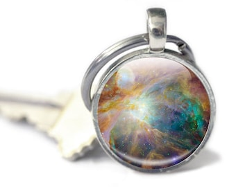 Space Keyring, Astronomy, Astronomer Gift, Galaxy, Stars, Planets, Deep Space keychain, space lover accessories, science, phyiscs