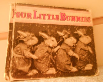 Four Little Bunnies 1935 photographed rabbits