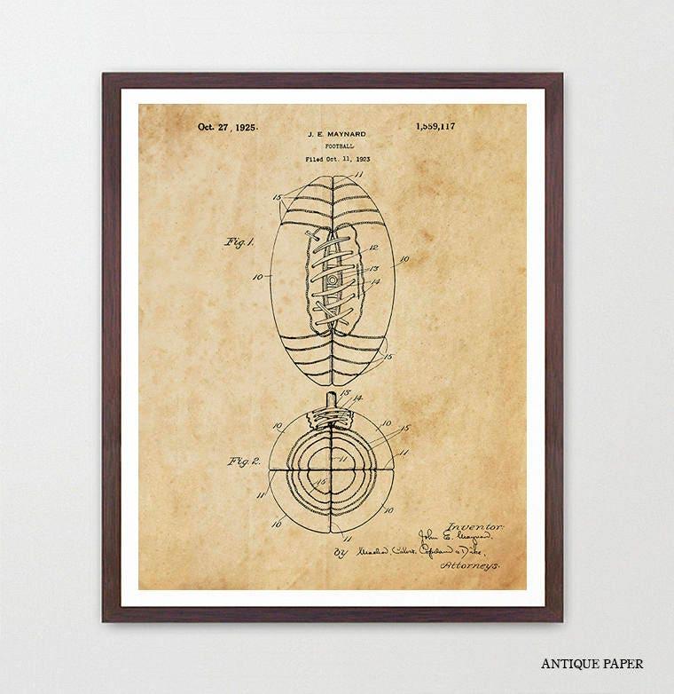 Football Poster - Football Art - Old Football - Football Patent ...