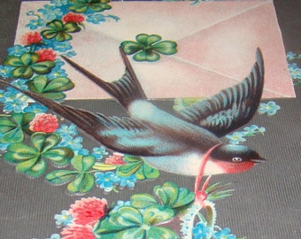 Nice Antique/Vintage Bird Postcard (Swallow)