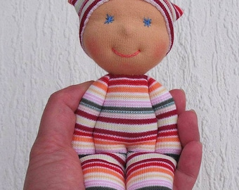 Waldorf baby doll, Babyshower gift for baby girl, Handmade rag doll, Soft  doll for toddler, First birthday gift, Organic toy, Fabric doll