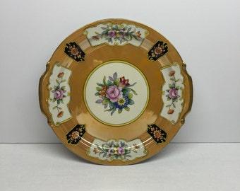 Noritake handled plate gold lusterware 10 inch cake plate