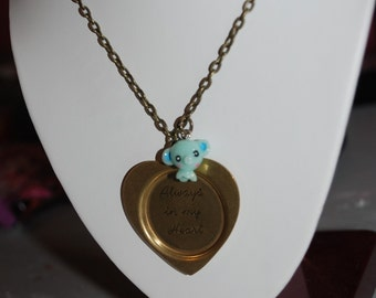Elephants Never Forget- Always In My Heart Necklace -Great Holiday Gift-