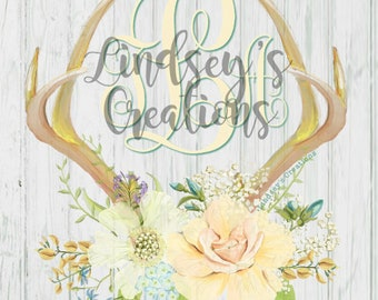 iphone 8 wallpaper personalized springtime antlers