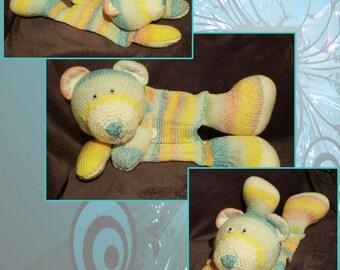 Hand knitted Teddy Pyjama Case