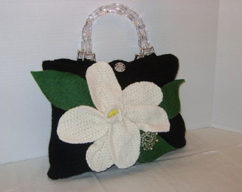 SALE, WAS 55 Chiquita creations, felted purse, PEONY