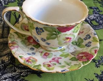 Proper China Tea Cup and Saucer