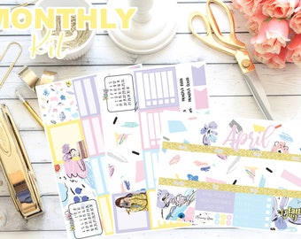 Spring Fling Collection April 2018 Monthly Spread Kit