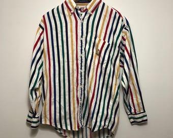 Vintage Chaps Ralph Lauren Muti Color Striped Shirt
