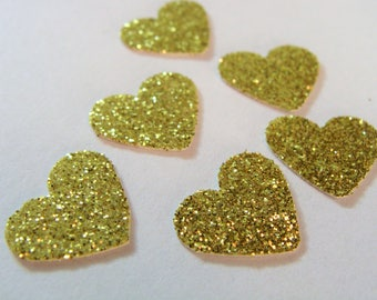 Gold Heart Confetti, Gold  Heart Wedding Table Decor, Gold Bridal decorations, Gold Heart Birthday Confetti, Gold Baby Shower decor