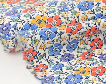 LIBERTY Baby Cord 64x146cm-Clarisse-Blue Velvet orange fabric