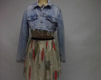 Handmade Euro Vintage Fabric Skirt