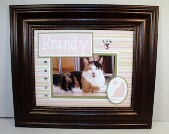 Personalized Cat or Dog Photo Keepsake UNFRAMED Insert fits in 8x10 frame houses 4x6 horizontal or vertical photo