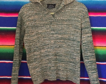 70s Space Dyed Green Pullover Cardigan Sweater Size Small / Medium