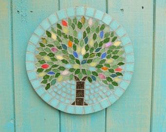 Summer Jewel Tree Mosaic Garden Yard Hanging Plaque Ornament Decoration