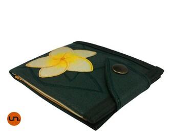 Handmade Wallet, Hand Painted Flower Wallet, Vegan,  Leather Wallet, Womens Wallet, Ladies Wallet, Personalized Wallet - UNUSUAL Wallet