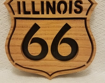 Rt. 66 wall plaque-ILLINOIS
