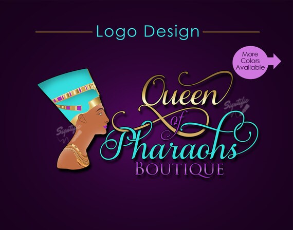 Custom Logo, Boutique Logo, Logo Design, Logo Custom, Nefertiti Logo, Queen Logo, Business Logo, Logos, Shop Logo, Website Logo, Branding