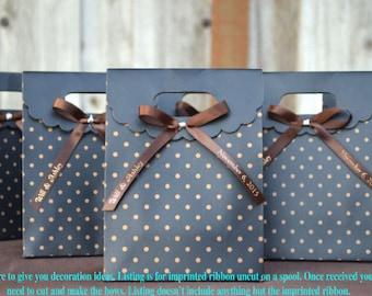 """200 Personalized 3/8"""" Satin Ribbons for Wedding Favors, Birthday Favors or Baby Shower Favors."""