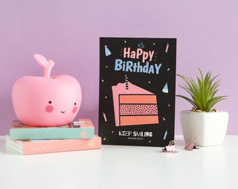 Happy Birthday Card • Illustrated Card • Greeting Card • Inspiration  •  Cute