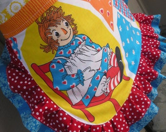 Aprons - Womens Raggedy Ann Aprons - Red Vintage Aprons - Raggedy Ann Aprons - Vintage Fabric Aprons -  Annies Attic Aprons - Etsy Aprons -