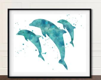 Dolphin, Beach House Decor, Dolphin Artwork, Coastal Decor Ideas, Dolphin Artwork, Dolphin Art, Dolphin Prints, Dolphin Wall Decor, Wall Art