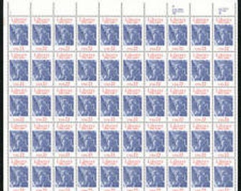 100th Anniversary of the STATUE Of LIBERTY  Full Sheet of 50 US#2224 from 1986 Mint